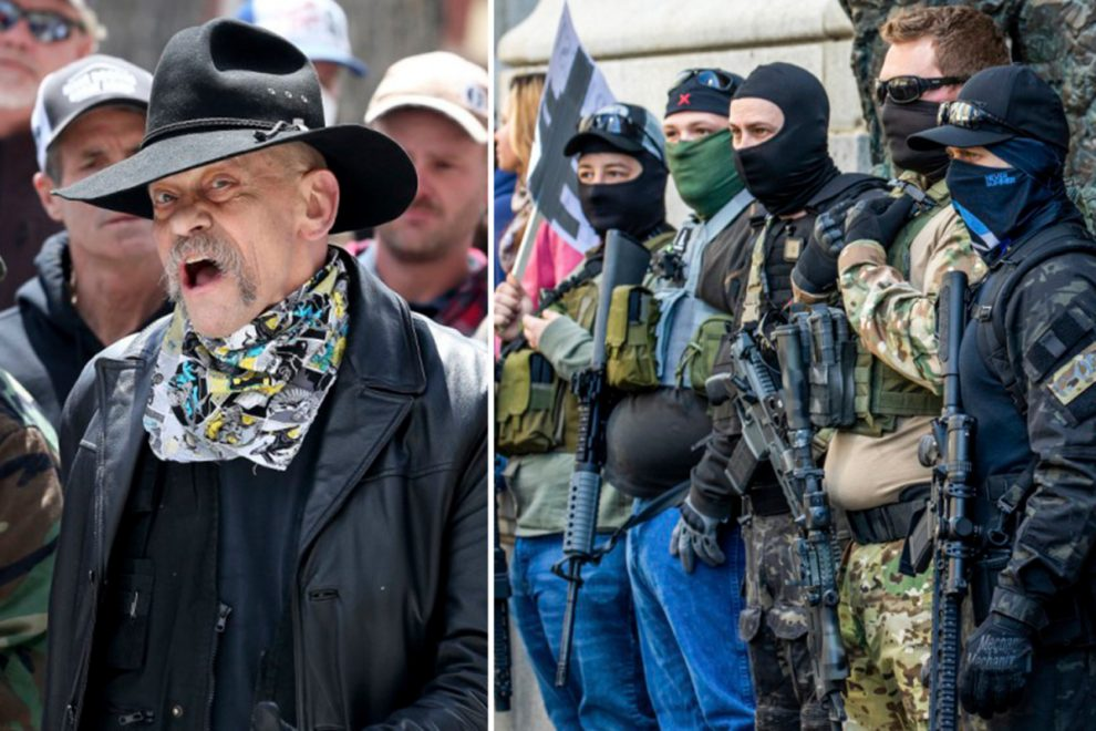 Gun-toting protesters take to the streets to demand an end to the US coronavirus lockdown