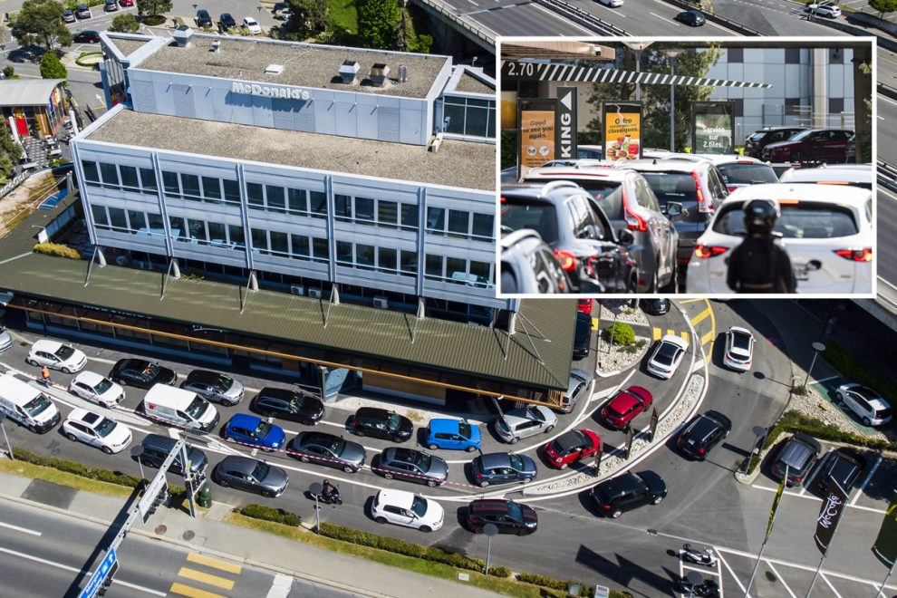 Massive queues as McDonald's addicts rush to drive-through that reopened in Switzerland