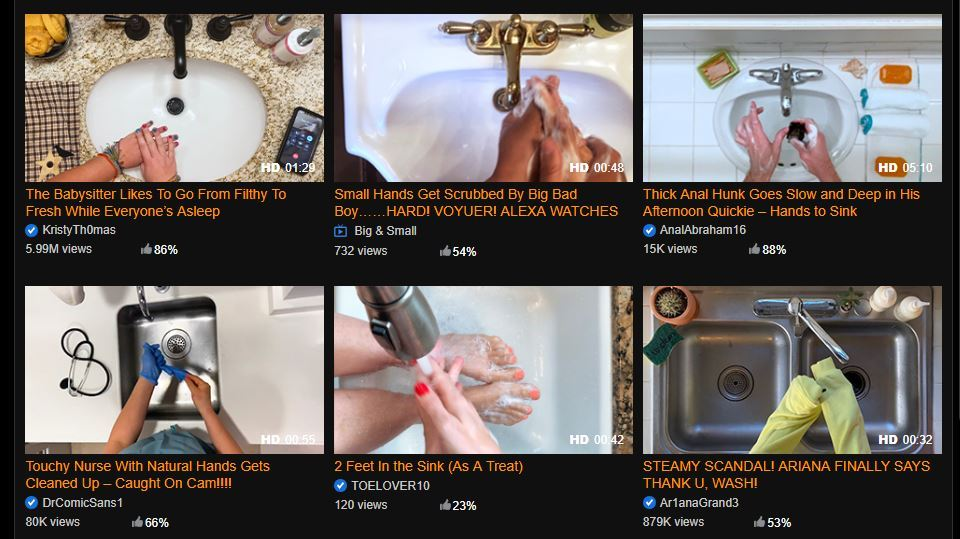 Pornhub creates website filled entirely with videos of people washing their hands amid coronavirus lockdown