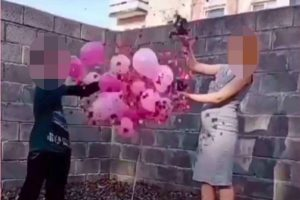 Pregnant schoolgirl, 14, who claims boy, 10, is the father holds gender reveal party to announce she's having a girl