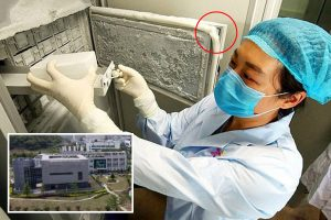 Shocking photos inside Wuhan lab show broken seal on unit storing 1,500 virus strains including bat coronavirus