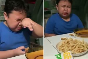Boy, 9, weeps with joy at first McDonald's meal after months of lockdown