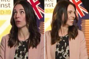 Ice-cool New Zealand PM Jacinda Ardern smiles as EARTHQUAKE rocks studio on live TV