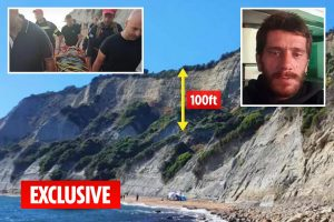 Serial rapist dubbed Beast of Kavos falls 100ft off cliff and suffers multiple injuries while fleeing police