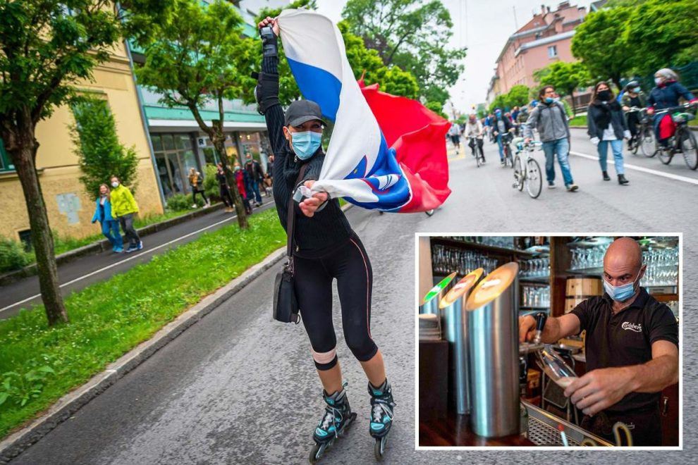 Slovenia becomes first in Europe to declare end to coronavirus as Berlin reopens bars