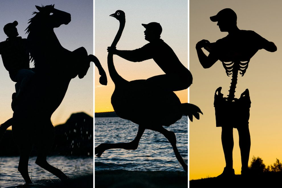 Creative photographer uses cardboard cutouts take amazing snaps during sunset
