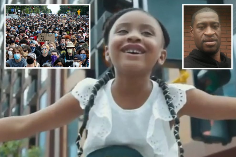 George Floyd's daughter Gigi, 6, shouts 'daddy changed the world' in heartbreaking video after her dad's arrest death