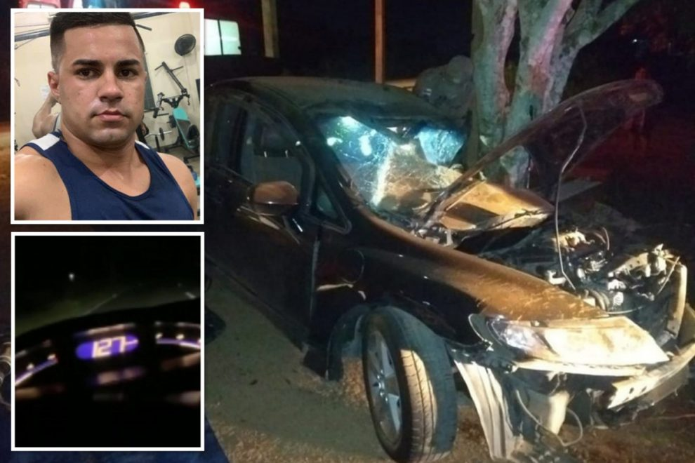 Boy racer killed 'in car chase on motorway' filmed his own death after fatal collision with tree