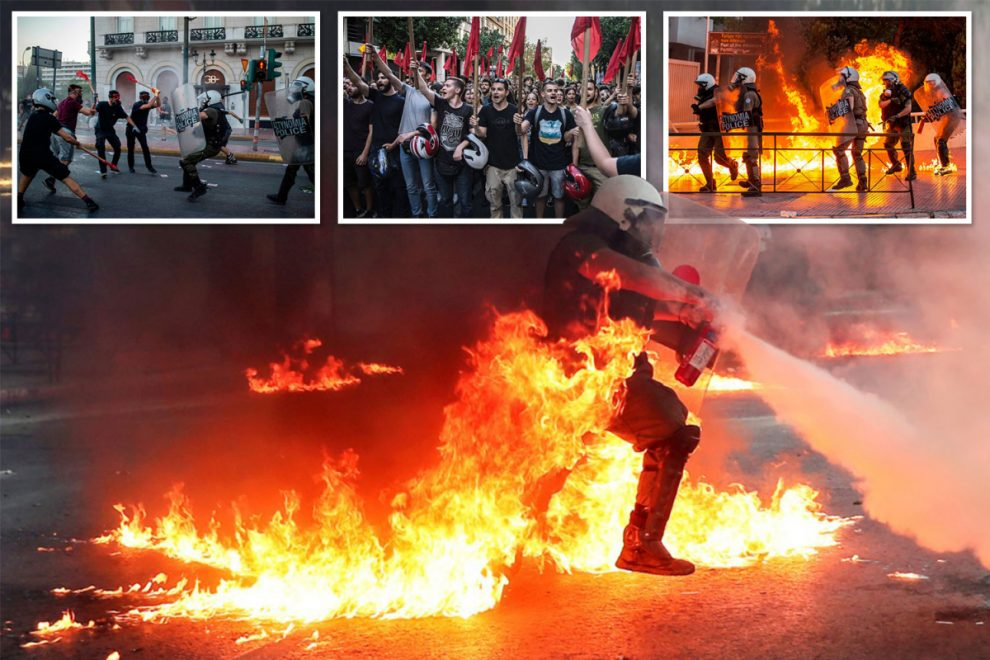 Clashes break out between Greek cops and protesters over a clampdown on violent demos