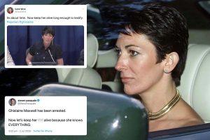 Ghislaine Maxwell arrest – Pleas to not let her kill herself in prison like Jeffrey Epstein