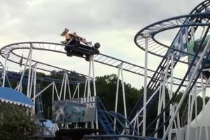 Husband tried to grab wife's foot as she fell to her death from rollercoaster on family day out