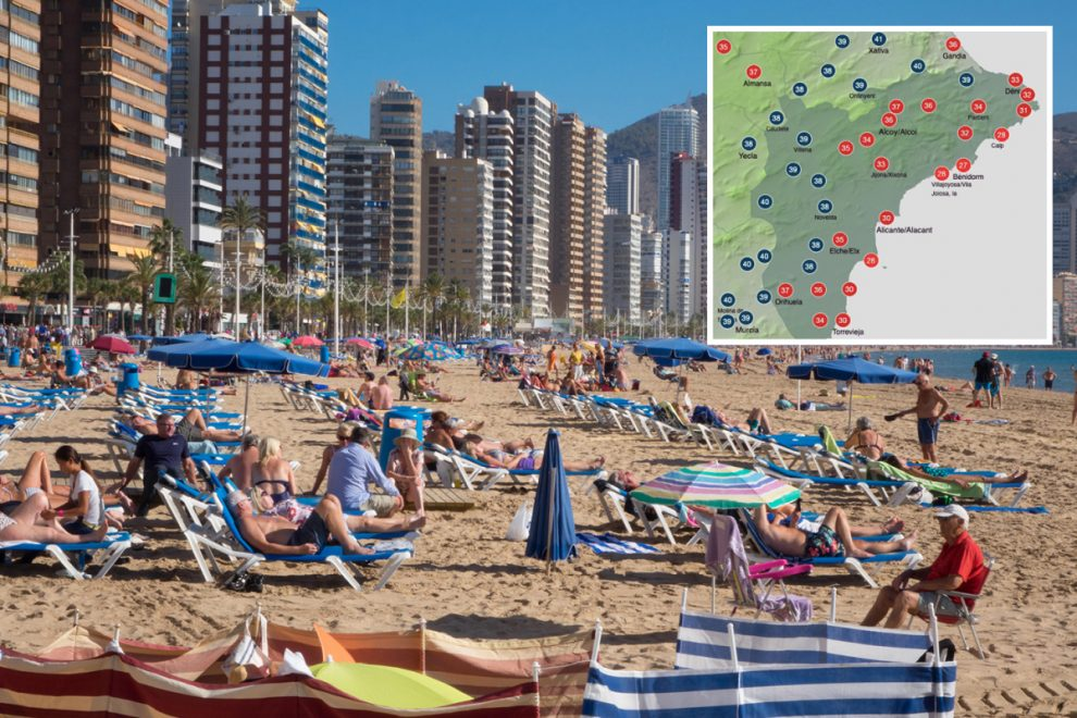 Saharan heat wave hits Costa del Sol and Malaga with Brits basking in 40C temperatures on newly reopened beaches