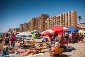 Spanish beaches forced to close and turn away Brit tourists to maintain social distancing after second wave fears