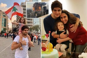 Girl, 3, dies in Beirut blast three days after being ripped from her mum's arms as she watched fire from flat window
