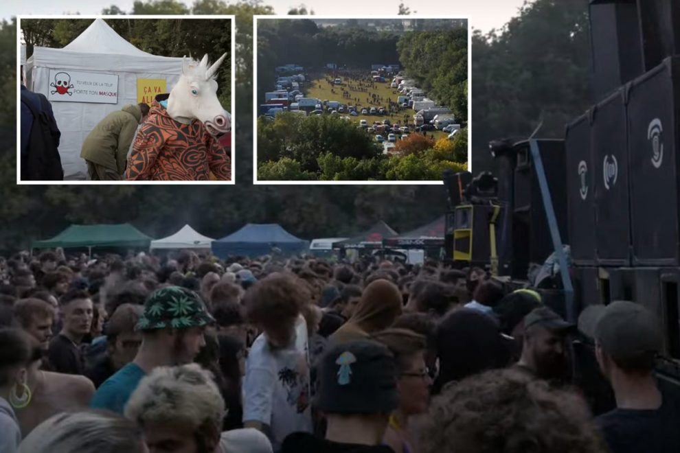 France coronavirus mayhem as 2,000 Covidiots pack out illegal rave just as country soars past 10,000 daily cases