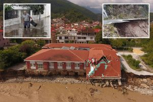 Greece flooding – Two dead as buildings and roads collapse after 'Mediterranean hurricane' Storm Ianos batters country