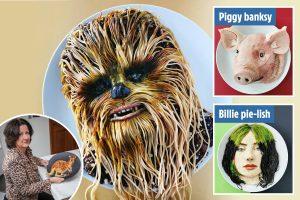 Mum becomes internet sensation after creating an edible Chewbacca