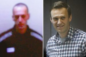 Kremlin critic Alexei Navalny tells court 'I'm a creepy skeleton' as he's seen for the first time since hunger strike